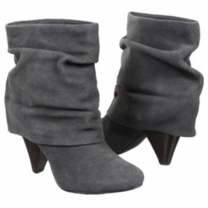 Steve Madden Carlsen Gray Suede Slouch Booties 10